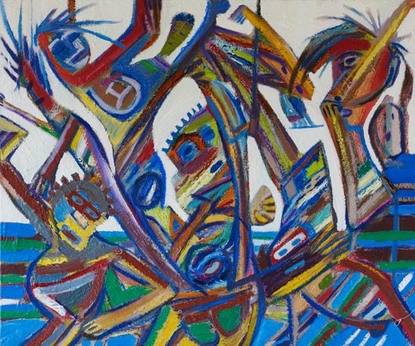 Rush Oil on Canvas 77 x 91 cm