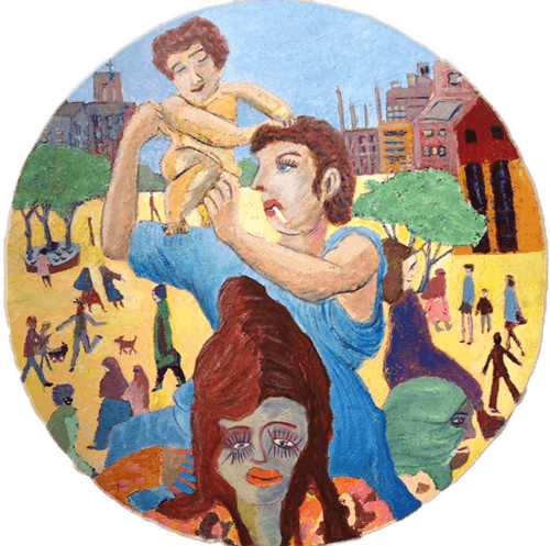 Moderna Madonna Oil on Canvas 110cm