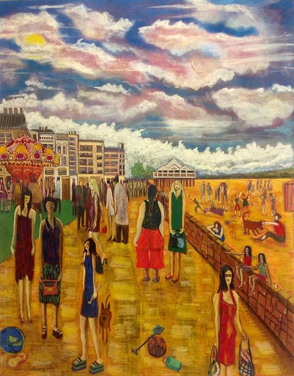 Onesies Mixed Media on Canvas 142x110cm