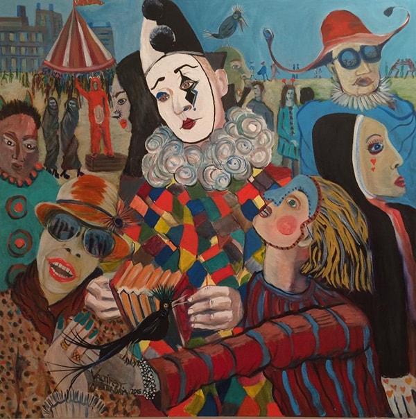 Valtifest acrylic on canvas 100 x 100cm