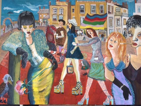 Weston Pride mixed media on canvas 100 x 125 cm